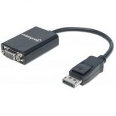 CABLE ADAPTADOR MANHATTAN DISPLAYPORT A VGA HD15 1080P M-H